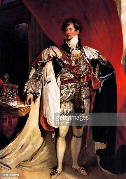 Thomas Lawrence English school George IV King of Great Britain Prince regent Oil on canvas