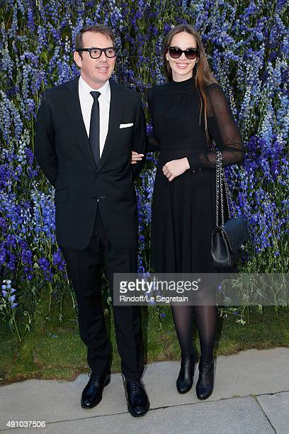 Thomas Leclerc and his wife Marie Pofkan attend the Christian Dior show as part of the Paris Fashion Week Womenswear Spring/Summer 2016 Held at Cour...