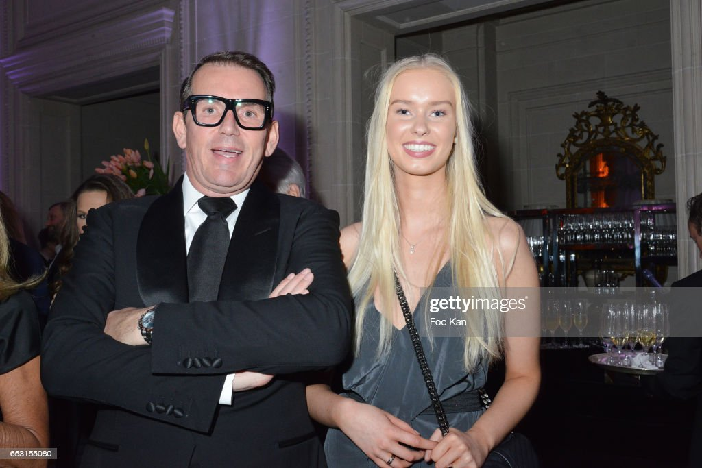Thomas Leclercq and Nicoline Leclercq attend 'La Recherche en Physiologie' Charity Gala (Les Stethos D'Or La Soiree Des Stars) at Four Seasons Hotel George V on March 13, 2017 in Paris, France.