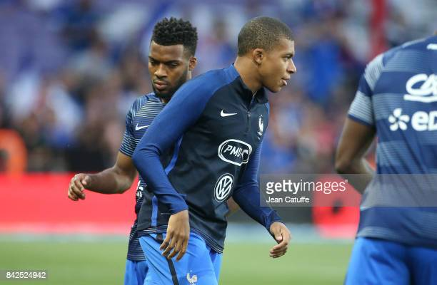 Thomas Lemar and Kylian Mbappe of France during the FIFA 2018 World Cup Qualifier between France and Luxembourg at the Stadium on September 3 2017 in...