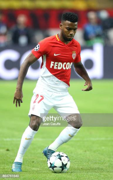 Thomas Lemar of AS Monaco during the UEFA Champions League group G match between AS Monaco and FC Porto at Stade Louis II on September 26 2017 in...