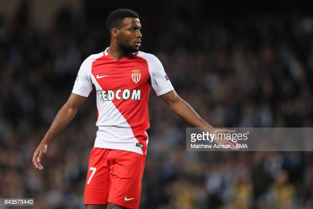 Thomas Lemar of AS Monaco during the UEFA Champions League Round of 16 first leg match between Manchester City FC and AS Monaco at Etihad Stadium on...