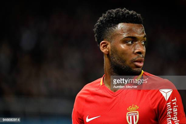 Thomas Lemar of AS Monaco reacts during the Ligue 1 match between Paris Saint Germain and AS Monaco at Parc des Princes on April 15 2018 in Paris...