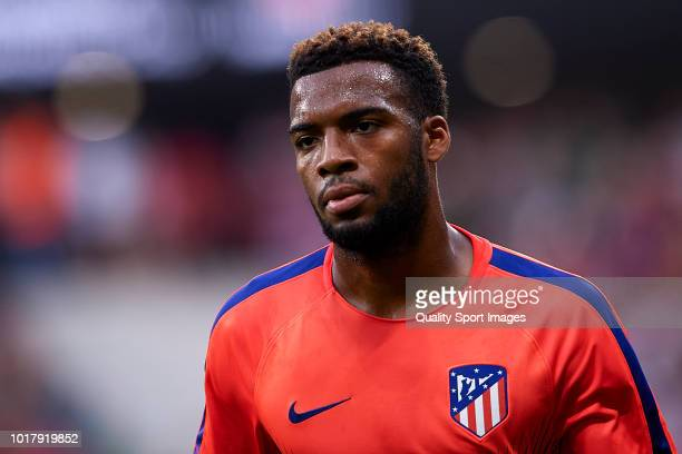 Thomas Lemar of Atletico de Madrid looks on prior to during the International Champions Cup match between Atletico de Madrid and FC Internazionale at...