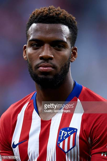 Thomas Lemar of Atletico de Madrid looks on prior to the International Champions Cup match between Atletico de Madrid and FC Internazionale at Wanda...