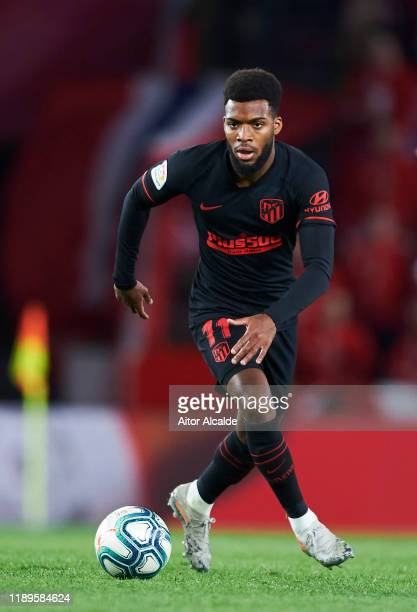 Thomas Lemar of Club Atletico de Madrid in action during the Liga match between Granada CF and Club Atletico de Madrid at Estadio Nuevo Los Carmenes...