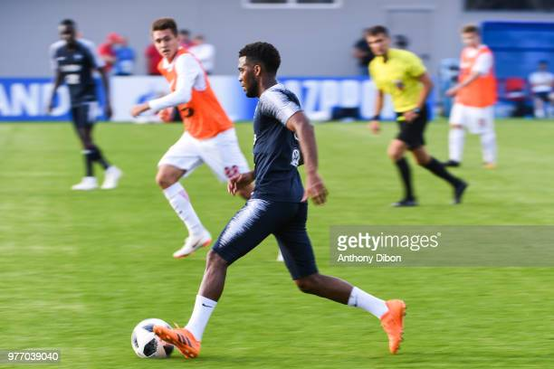 Alphonse Areola of France during Team France training session ahead of the FIFA World Cup 2018 on June 17 2018 in Istra Russia