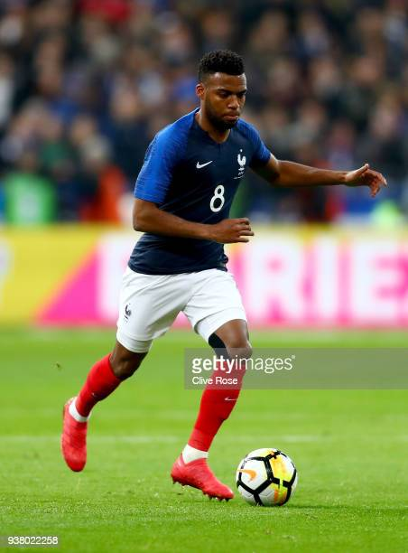 Thomas Lemar of France during the International friendly match between France and Columbia at Stade de France on March 23 2018 in Paris France