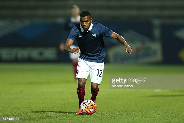 Thomas Lemar of France during the Uefa U21 European Championship qualifier between France and Scotland at Stade Jean Bouin on March 24, 2016 in...