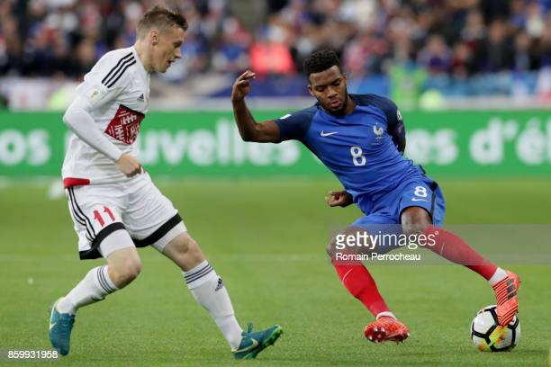 Thomas Lemar of France in action during the FIFA 2018 World Cup Qualifier between France and Belarus at Stade de France on October 10 2017 in Paris