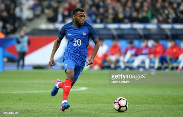 Thomas Lemar of France in action during the international friendly match between France and Spain between France and Spain at Stade de France on...