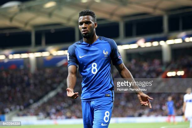 Thomas Lemar of France reacts during the FIFA 2018 World Cup Qualifier between France and Luxembourg at on September 3 2017 in Toulouse France