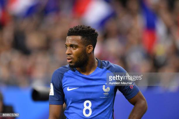 Thomas Lemar of France reacts during the FIFA 2018 World Cup Qualifier between France and Belarus at Stade de France on October 10 2017 in Paris
