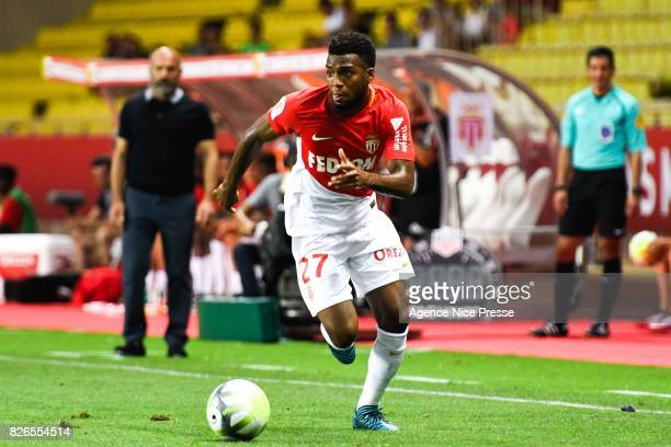 Thomas Lemar of Monaco during the Ligue 1 match between AS Monaco and Toulouse at Stade Louis II on August 4 2017 in Monaco