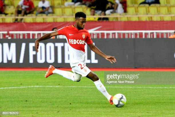 Thomas Lemar of Monaco during the Ligue 1 match between AS Monaco and Montpellier Herault SC at Stade Louis II on September 29 2017 in Monaco