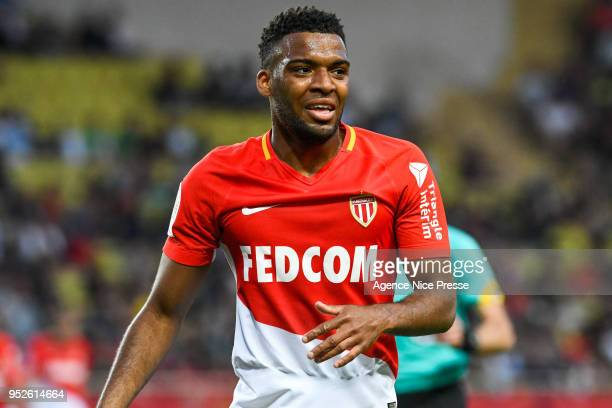 Thomas Lemar of Monaco during the Ligue 1 match between AS Monaco and Amiens SC at Stade Louis II on April 28 2018 in Monaco
