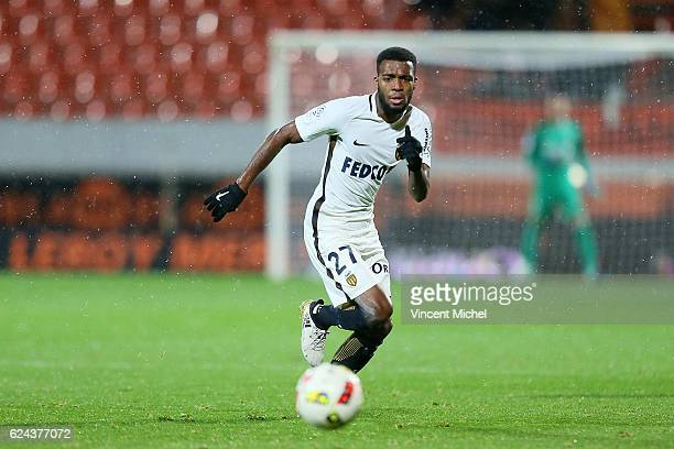 Thomas Lemar of Monaco during the Ligue 1 match between Fc Lorient and As Monaco at Stade du Moustoir on November 18 2016 in Lorient France