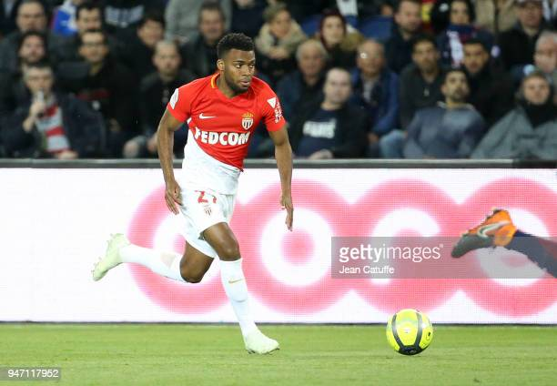 Thomas Lemar of Monaco during the Ligue 1 match between Paris Saint Germain and AS Monaco at Parc des Princes stadium on April 15 2018 in Paris