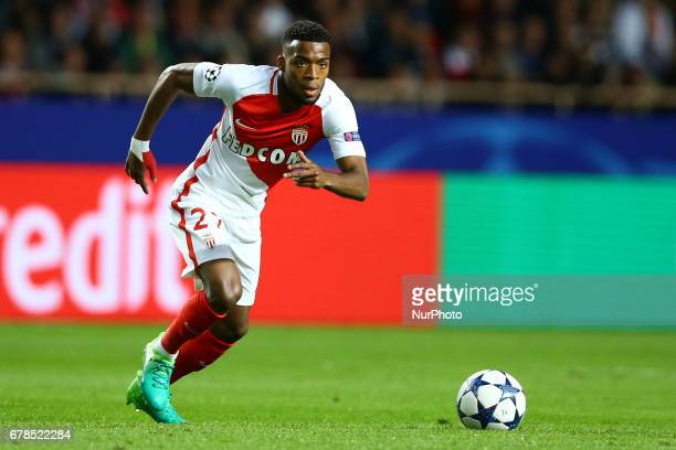 Thomas Lemar of Monaco during the UEFA Champions League Semi Final first leg match between AS Monaco v Juventus at Stade Louis II on May 3 2017 in...