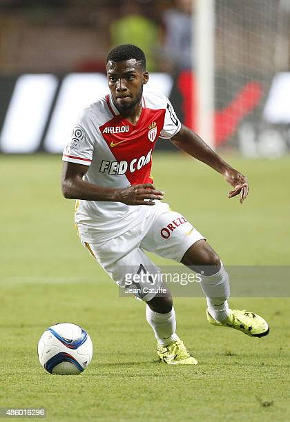 Thomas Lemar of Monaco in action during the French Ligue 1 match between AS Monaco and Paris SaintGermain at Stade Louis II on August 30 2015 in...