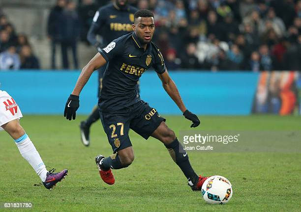 Thomas Lemar of Monaco in action during the French Ligue 1 match between Olympique de Marseille and AS Monaco at Stade Velodrome on January 15 2017...