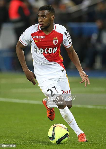 Thomas Lemar of Monaco in action during the French Ligue 1 match between Paris SaintGermain v AS Monaco at Parc des Princes on March 20 2016 in Paris...