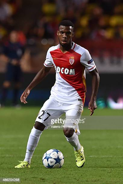 Thomas Lemar of Monaco in action during the UEFA Champions League qualifying round play off second leg match between Monaco and Valencia on August 25...