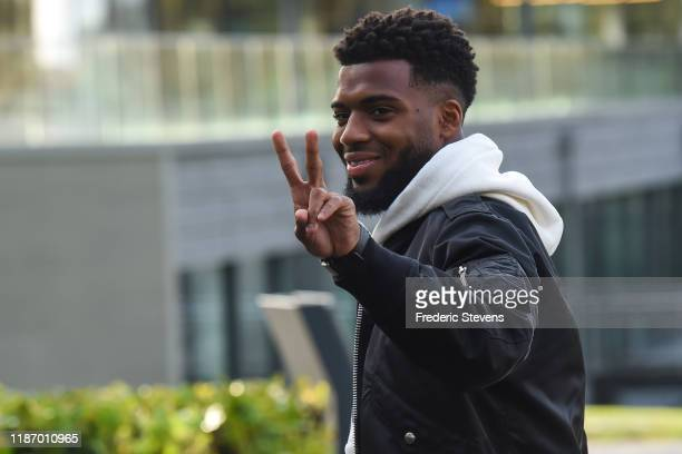 Thomas Lemard of France arrives ahead of a training session on November 11 2019 in Clairefontaine France France will play against Moldova in their...