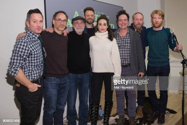 "Thomas Lennon, David Wain, Martin Mull, Joel McHale, Emmy Rossum, Jon Daly, Matt Walsh and Domhnall Gleeson from Netflix's upcoming film ""A Futile..."
