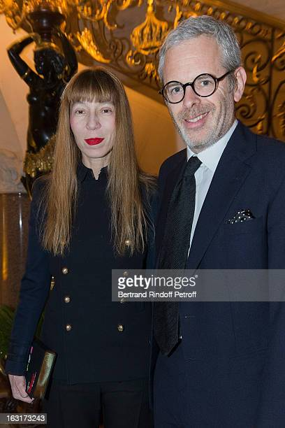 Thomas Lenthal and Victoire de Castellane attend the 'CR Fashion Book Issue 2' Carine Roitfeld Cocktail as part of Paris Fashion Week at Hotel...