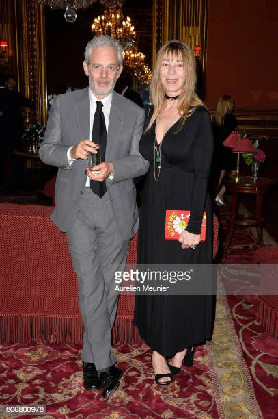 Thomas Lenthal and Victoire de Castellane attend the dinner to celebrate the launch of Fabrizio Viti Cruise 18 Collection Back In Love Again at Hotel...