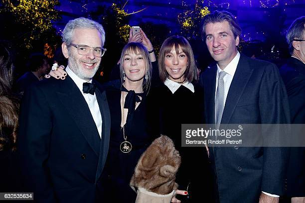Thomas Lenthal Victoire de Castellane Mathilde Favier and his friend attend the Christian Dior Haute Couture Spring Summer 2017 Bal Masque as part of...