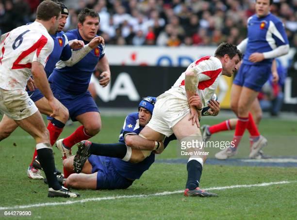 Thomas LIEVREMONT / Martin CORRY - - France / Angleterre - Tournoi des 6 Nations, Photo : Dave Winter / Icon Sport