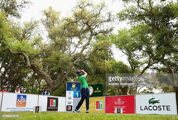 Thomas Linard of France tees off on the 1st hole during the third round of the Trophee Hassan II at Royal Golf Dar Es Salam on May 7 2016 in Rabat...