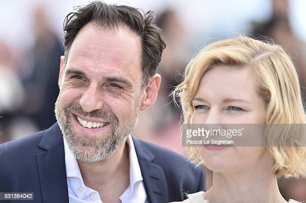 "Thomas Loibl and Sandra Huller attend the ""Toni Erdmann"" photocall during the annual 69th Cannes Film Festival on May 14, 2016 in Cannes, France."