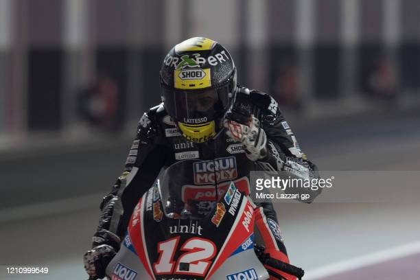Thomas Luthi of Swiss and Liqui Moly Intact GP starts from box during the Moto2 & Moto3 GP Of Qatar - Qualifying at Losail Circuit on March 07, 2020...