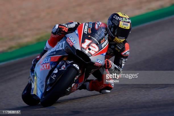 Thomas Luthi of Switzerland and Dynavolt Intact GP during of the Gran Premio Michellin de Aragon of world championship of MotoGP at Motorland Aragon...