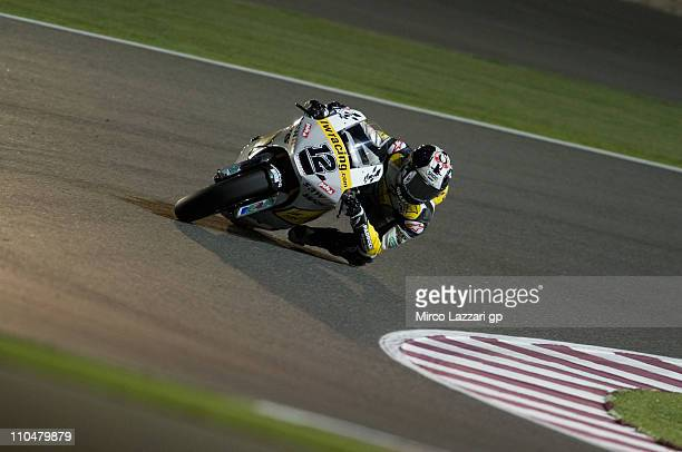 Thomas Luthi of Switzerland and Interwetten Paddock rounds the bend during the qualifying practice at Losail Circuit on March 19, 2011 in Doha, Qatar.