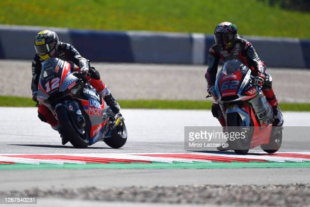 Thomas Luthi of Switzerland and Liqui Moly Intact GP leads the field during the MotoGP Of Styria - Free Practice at Red Bull Ring on August 21, 2020...