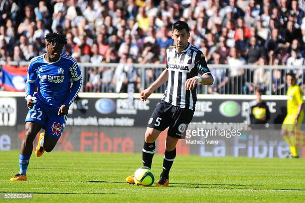 Thomas Mangani during the French Ligue 1 match between Angers SCO and Olympique de Marseille on May 1 2016 in Angers France