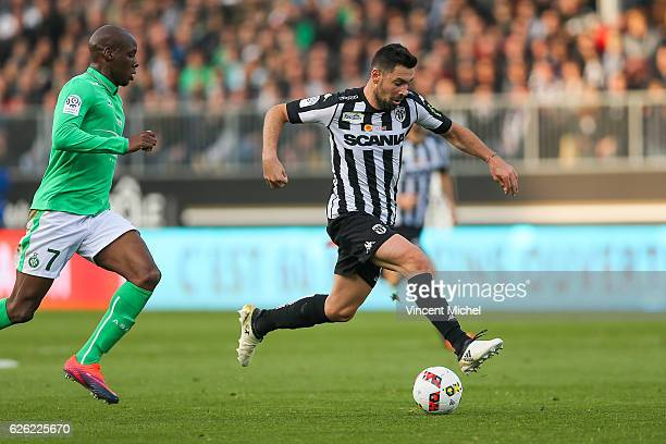Thomas Mangani of Angers during the French Ligue 1 match between Angers and Saint Etienne on November 27 2016 in Angers France
