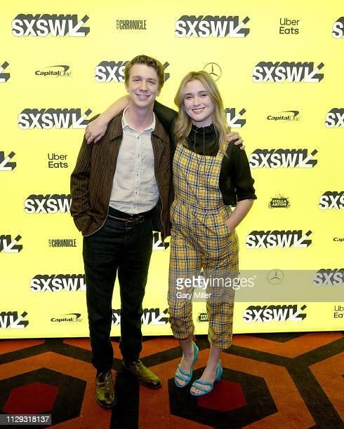 Thomas Mann and Alice Englert attend the premiere of 'Them That Follow' at the Alamo Drafthouse South Lamar during the 2019 SXSW Conference And...