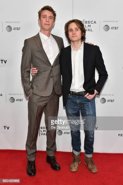 Thomas Mann and Matthew Brown attend the screening of Maine during the 2018 Tribeca Film Festival at Cinepolis Chelsea on April 23 2018 in New York...