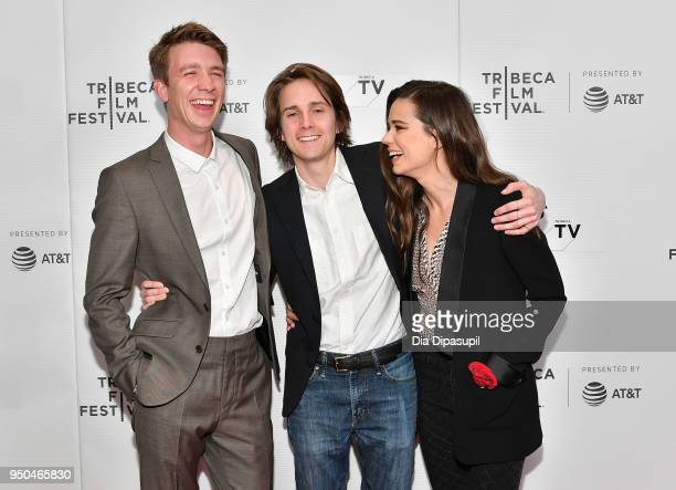 Thomas Mann Matthew Brown and Laia Costa attend the screening of 'Maine' during the 2018 Tribeca Film Festival at Cinepolis Chelsea on April 23 2018...