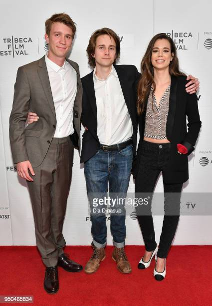 Thomas Mann Matthew Brown and Laia Costa attend the screening of Maine during the 2018 Tribeca Film Festival at Cinepolis Chelsea on April 23 2018 in...