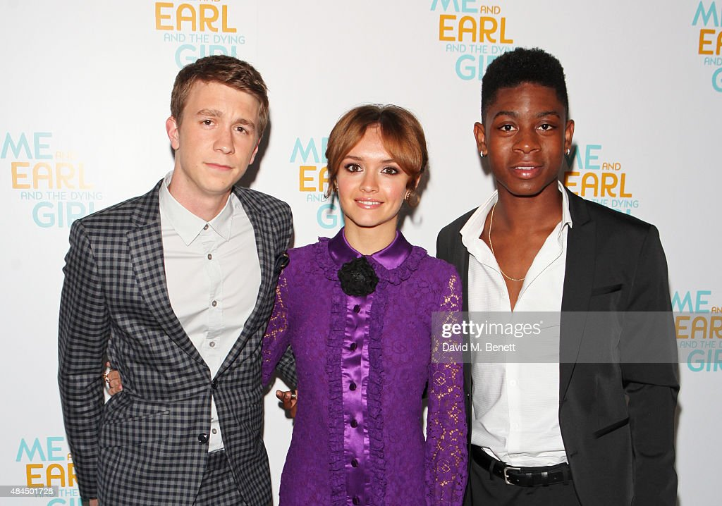 Thomas Mann, Olivia Cooke and RJ Cyler attend the UK Premiere of 'Me And Earl And The Dying Girl' during Film4 Summer Screenings at Somerset House on August 19, 2015 in London, England.