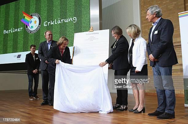 Thomas Mansche VicePresident of Hertha BSC German Justice Minister Sabine LeutheusserSchnarrenberger Ilse RidderMelchers VicePresident of the German...