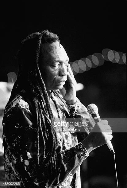 Thomas Mapfumo, vocal, performs at the Africa Festival in Delft, the Netherlands on 4th August 1990.