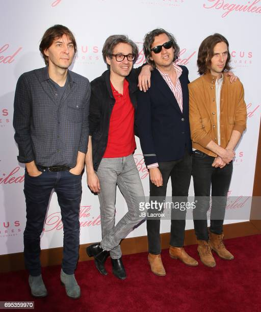 Thomas Mars Laurent Brancowitz Christian Mazzalai and Deck D'arcy of Phoenix attend the premiere of 'The Beguiled' on June 12 2017 in Los Angeles...