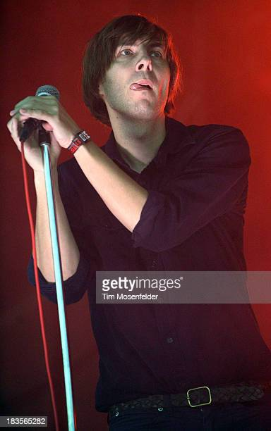 Thomas Mars of Phoenix performs as part of the Austin City Limits Music Festival Day Three at Zilker Park on October 6 2013 in Austin Texas